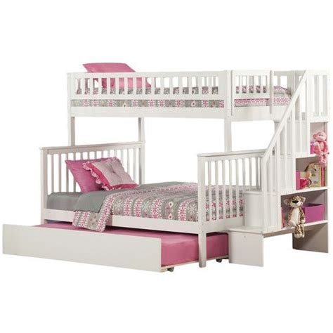 Bunk Beds With Trundle And Stairs by Bed For S Room Woodland Bunk Bed