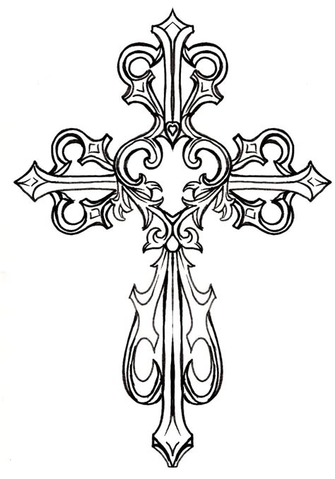 make a tattoo design online free ornate cross clipart 1 graphics printables