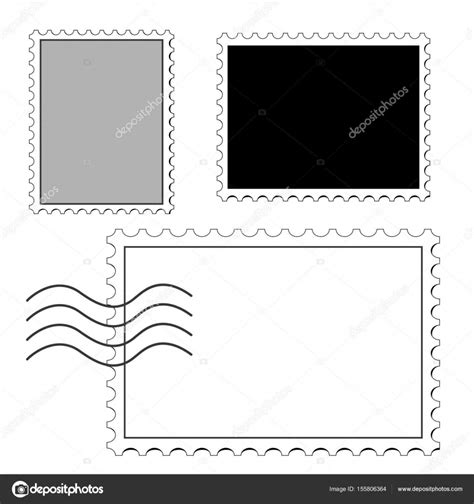 postage st template blank postage st stock vector 169 grandnat 155806364