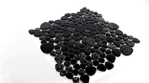 fliesen schwarz keramik kiesel mosaik fliesen schwarz