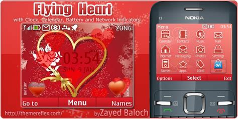 theme maker for c3 flying heart nokia c3 theme updated themereflex