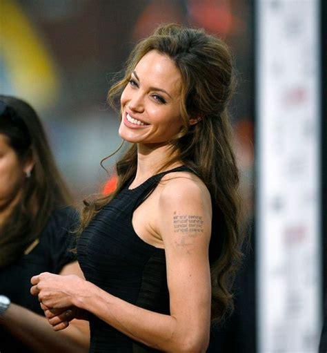 angelina jolie tattoo amsterdam celebrity tattoos angelina jolie cheryl cole danielle
