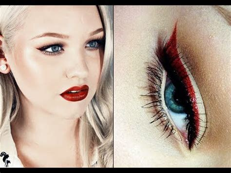 tutorial eyeliner pin up makeup tutorial modern pin up look with a twist