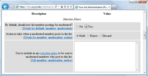 Moderated Section by Article List Moderation