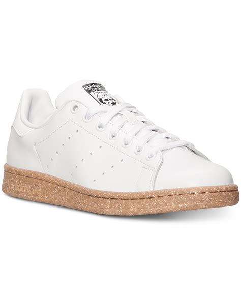 white casual sneakers lyst adidas s originals stan smith casual sneakers