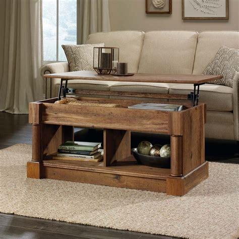 Sauder Palladia Lift Top Coffee Table In Vintage Oak 420716