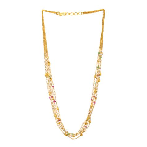 Chain Of Pearl 1 2 buy multi strand ruby emerald and pearl mini necklace