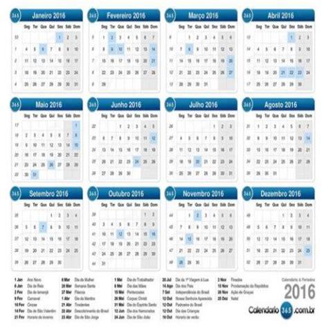 calend 225 2016 feriados mundodastribos todas as