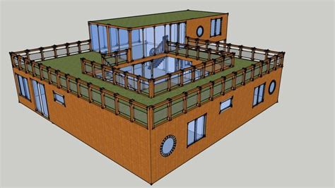 Shipping Container House With Courtyard 3d Warehouse Courtyard House Plans Shipping Container Home