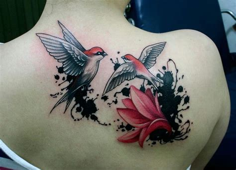 tattoo flower with birds neoskull tattoo birds flower ink tattoos pinterest