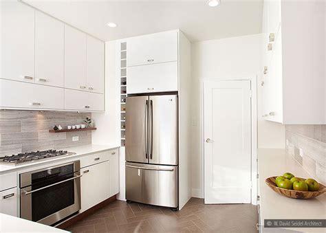 carrara white gray marble backsplash tile modern kitchen