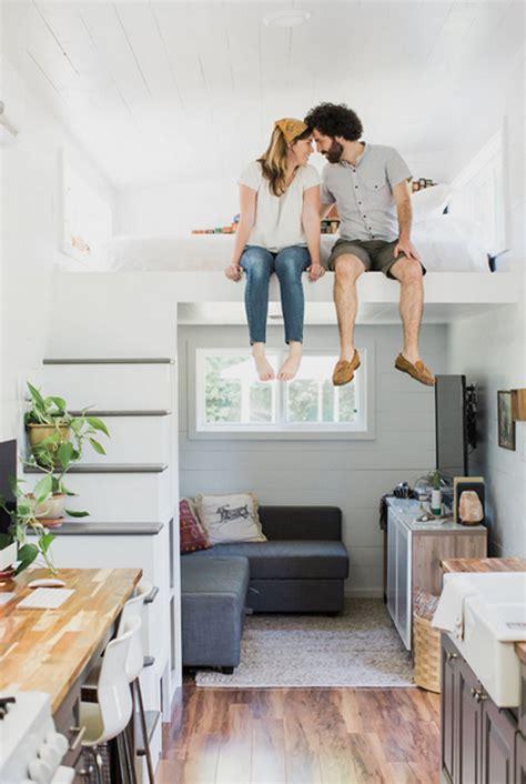romantic tiny house  smart storage spaces home