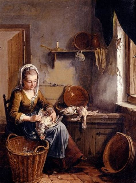interno 18 curti вильям лакю 1738 1798г кухарка ощипывающая курицу