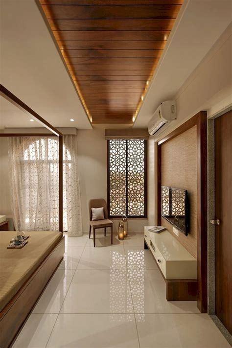 unique  simple ceiling design   bedroom