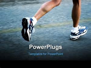 running powerpoint template of a running powerpoint template background of
