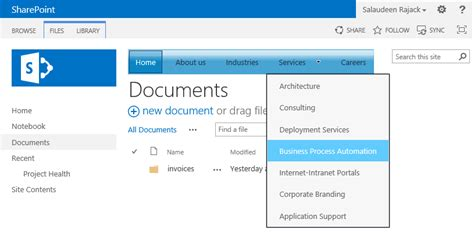 top navigation bar november 2014 salaudeen rajack s sharepoint diary
