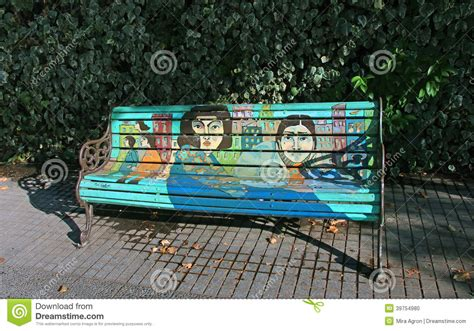 bench painting ideas painted bench editorial image image of artistic trend