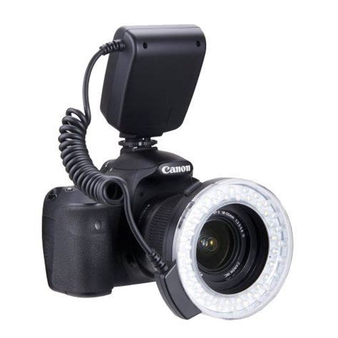 buy cheap polaroid 48 macro led ring flash light