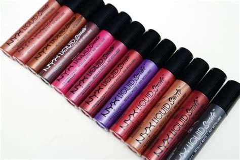 Lipstik Nyx Original nyx professional makeup liquid suede metallic matte lipsticks the beautynerd
