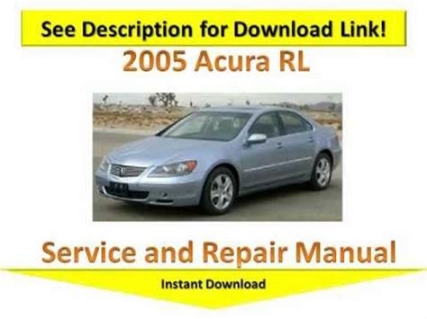 service repair manual free download 2012 acura rl navigation system 2005 acura rl repair manual youtube