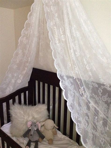 Lace Bed Canopy Lace Bed Canopy For Baby Crib Or Bed Or Photo Prop On Etsy 45 00