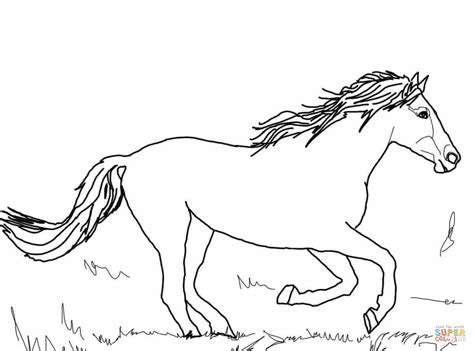 wild horse running coloring page coloring pages