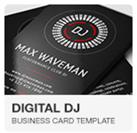 dj business card template psd free flat digital dj business card by vinyljunkie graphicriver