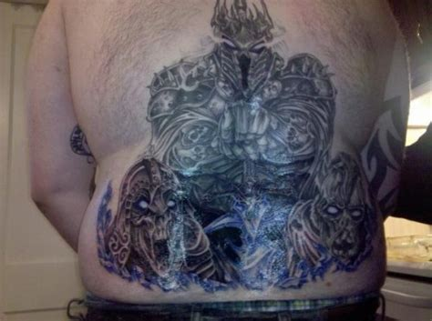 wow tattoo warcraft lich king world
