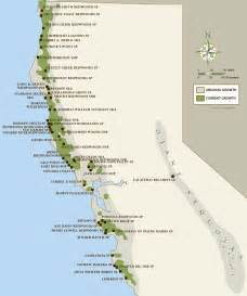 cing california coast map california coastal redwood parks