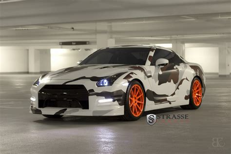 nissan gtr wrapped camo strasse forged wheels camo gtr car wrapping pinterest