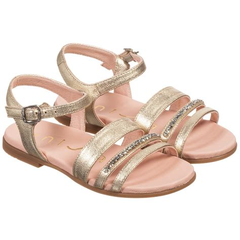 with sandals unisa gold leather sandals with swarovski