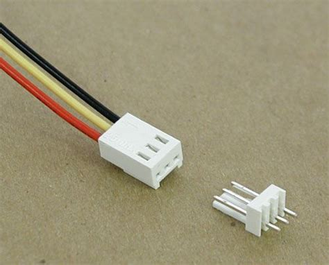 3 pin connector 3 pin connector w header 0 1 quot all electronics corp