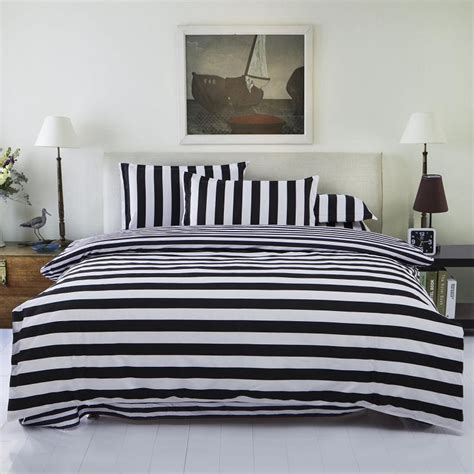Fashion Cotton 4pc Duvet Cover Set Bedding Set Full Or Black And White Size Bedding Sets