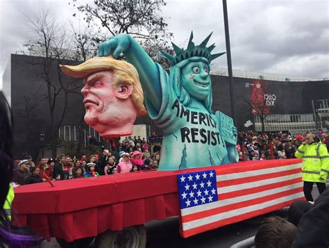 Shock German Parade Float Shows Beheaded President Trump This Pro Donald 4th Of July Parade Float