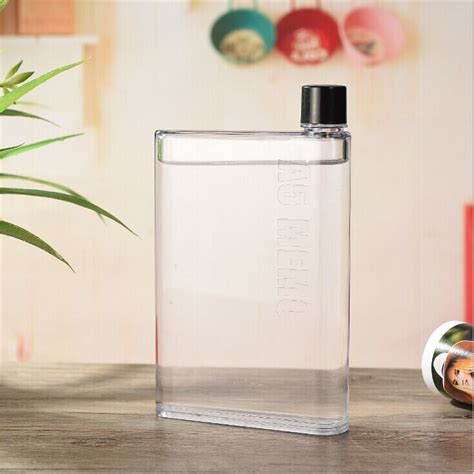 New Memobottle A5 Letter 420ml Botol Minum Memo Bottle Tipis Slim Ther 1 memobottle a5 letter reusable water bottles 420ml botol minum black jakartanotebook