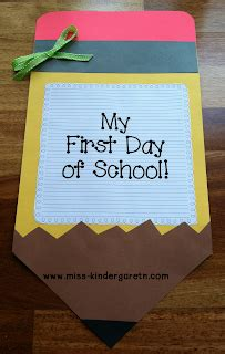 kindergarten activities for the first day of school my first day of school craft miss kindergarten