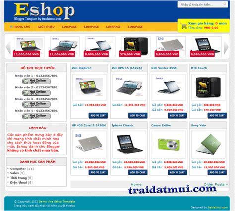 Eshop Template Mẫu D 224 Nh Cho C 225 C Blogger B 225 N H 224 Ng Trực Tuyến Thủ Thuật Blog Eshop Template