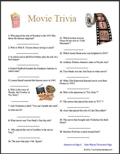 Printable Movie Quotes Quiz | movie quotes quiz printable quotesgram