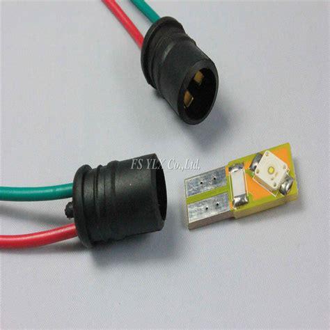 100pcs lot led t10 w5w soft bulb holder adapters cable led