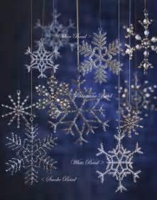 glass snowflake ornaments christmas tree ornament set of