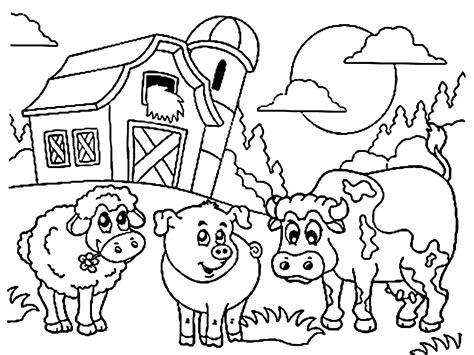 imagenes para colorear animales de la granja imprimir dibujos para colorear granja para ni 241 os y