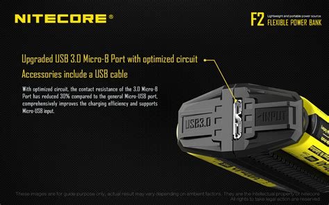 Nitecore Charger Baterai With Power Bank F2 nitecore f2 dual slots portable power bank outdoor charger for li ion imr battery