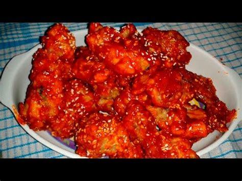 resep yangnyeom tongdak ayam goreng pedas ala korea