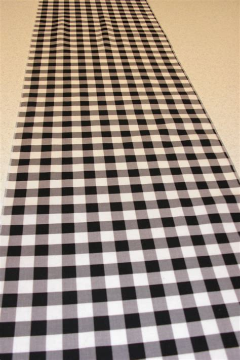 Checkered Table Runner by Items Similar To 11 X 108 Inch Black And White Gingham