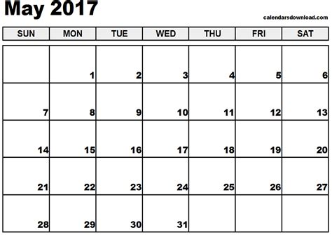 printable calendar download may 2017 calendar