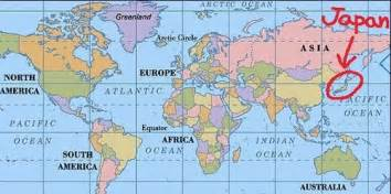 Japan On World Map by Tokyo Map Of World