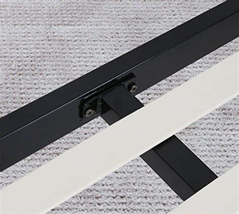 metal bed frame accessories olee sleep metal and wood slate bed frame furniture