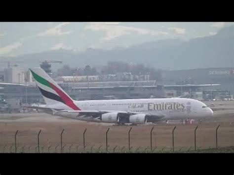 emirates zurich airport zurich airport zrh lszh emirates 088 a380 departure