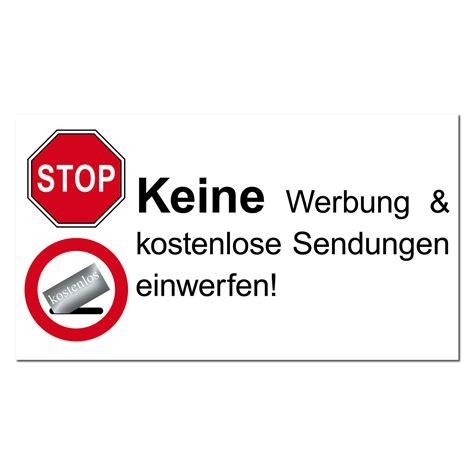 Keine Werbung Aufkleber Entfernen by Stop Keine Werbung Reklame Zeitung Einwerfen Briefkasten