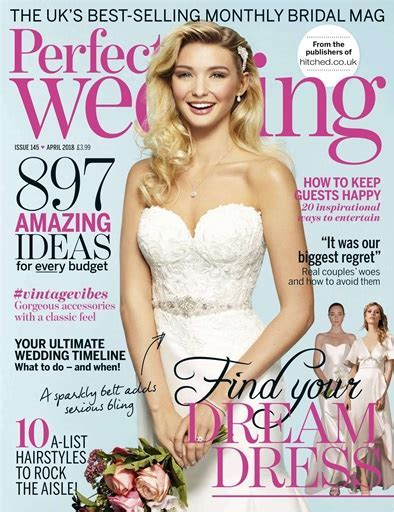 Perfect Wedding Magazine   April 2018 Subscriptions